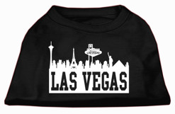 Las Vegas skyline silhouette t-shirt sleeveless dog black