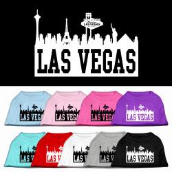 Las vegas skyline silhouette screen print dog shirt for Las vegas shirt printing