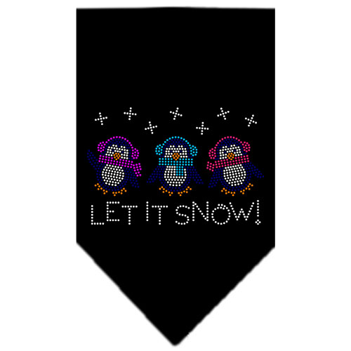 Let it Snow Penguins rhinestone dog bandana