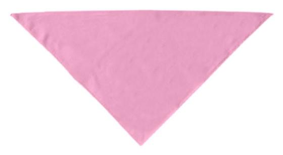 Light pink plain dog bandana