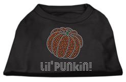 Lil Punkin Halloween rhinestone dog shirt black