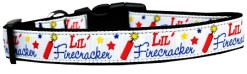 Little Firecracker Fourth of July Dog Collar