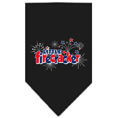 Little Firecracker stars dog bandana black