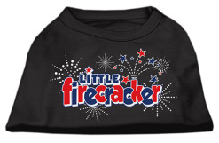 Little Firecracker t-shirt sleeveless dog black