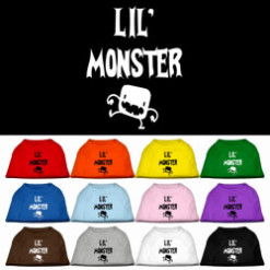 Little Monster t-shirt sleeveless dog multi-colors