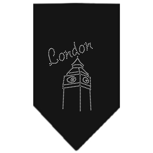 London Clock Tower rhinestone bandana black