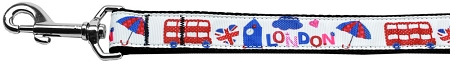 London Tourist Dog Leash UK Flag Double Decker Bus
