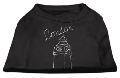 London clock tower rhinestones dog t-shirt black