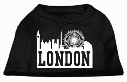 London t-shirt sleeveless dog black