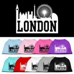 London t-shirt sleeveless dog multi-colors