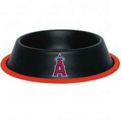 Los Angeles Angels Stainless Black Dog Bowl