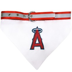 Los Angeles Angels adjustable dog collar and bandana