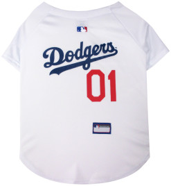 Los Angeles Dodgers MLB dog jersey back