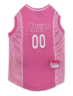 Los Angeles Lakers Pink NBA Dog Jersey