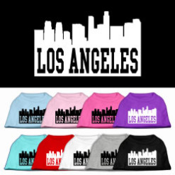 Los Angeles t-shirt sleeveless dog multi-colors