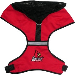 Louisville Cardinals NCAA mesh dog harness
