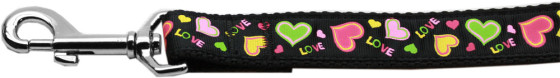 Love and Neon Hearts Dog Leash