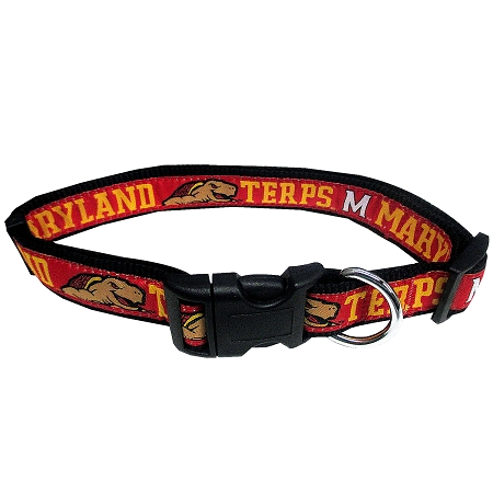 Maryland Terrapins adjustable dog collar