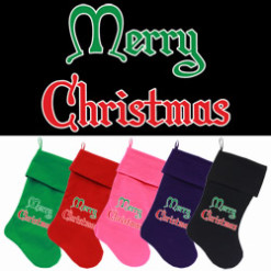 Merry Christmas dog stockings