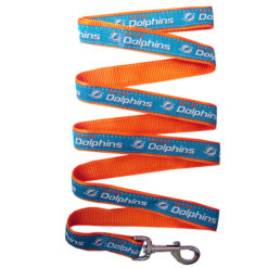 Miami Dolphins Nylon Dog Leash
