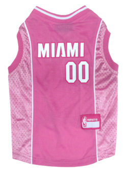 Miami Heat NBA Dog Jersey pink
