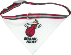 Miami Heat bandana adjustable dog collar