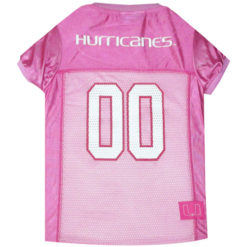 Miami Hurricanes Pink NCAA Dog Jersey