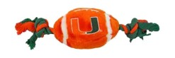 Miami Hurricanes football and rope dog toy