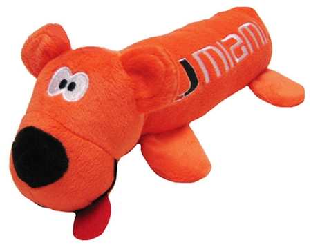 Miami Hurricanes plush tube dog toy