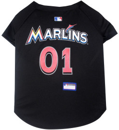 Miami Marlins MLB dog jersey back
