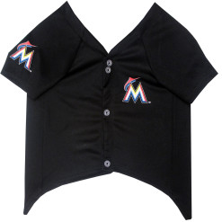 Miami Marlins MLB dog jersey front