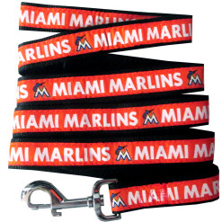 Miami Marlins MLB nylon dog leash