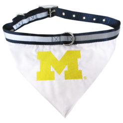 Michigan Wolverines Dog Bandana and Collar