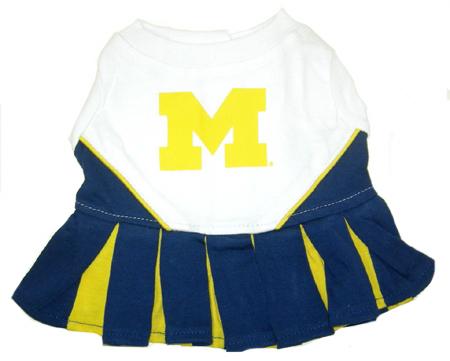 Michigan Wolverines NCAA cheerleader dog dress