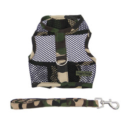 Military Camouflag cool mesh harness close-up