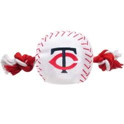 Minnesota Twins MLB baseball dog toy and rope