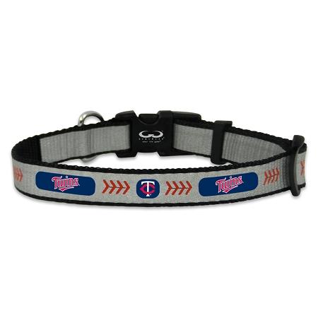 Minnesota Twins reflective dog collar
