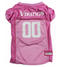 Minnesota Vikings Pink NFL Dog Jersey