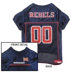 Mississippi Ole Miss Rebels NCAA dog jersey