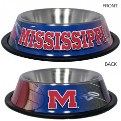 Mississippi Ole Miss Rebels Stainless NCAA dog bowl