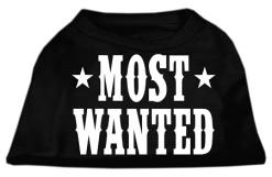 Most Wanted t-shirt sleeveless dog black