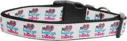 My Heart Belongs to Daddy adjustable dog collar