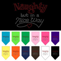 Naughty But in a Nice Way rhinestone bandana