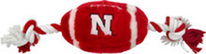 Nebraska Cornhuskers NCAA football plush dog toy