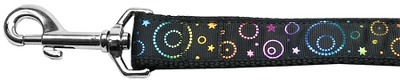 Neon Spiral Galaxies and Stars nylon webbing leash