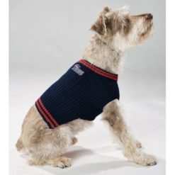 New England Patriots NFL dog sweater on pet