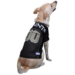 New Orleans Saints NFL dog jersey on pet