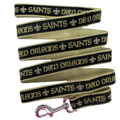 New Orleans Saints Nylon Dog Leash