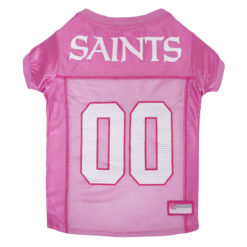 New Orleans Saints Pink NFL Dog Jersey