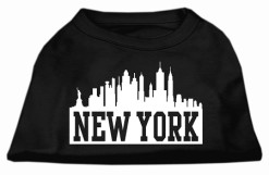 New York City Skyline Screenprint t-shirt sleeveless dog black